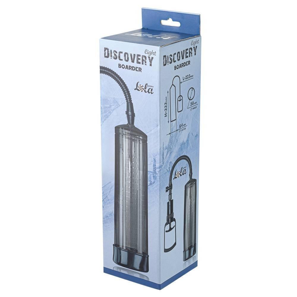 Вакуумная помпа для члена Discovery Light Boarder Charcoal 6911-01lola Прозрачный/Чёрный Lola games Discovery light