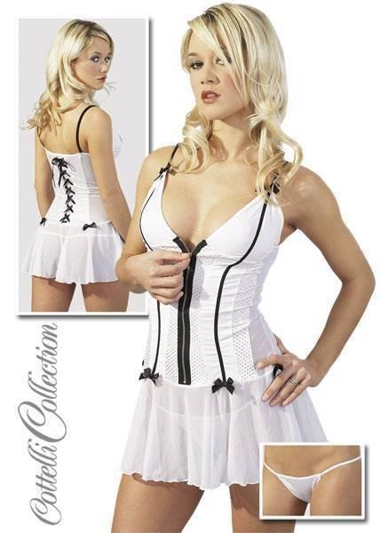 M-Платье+стринги белое