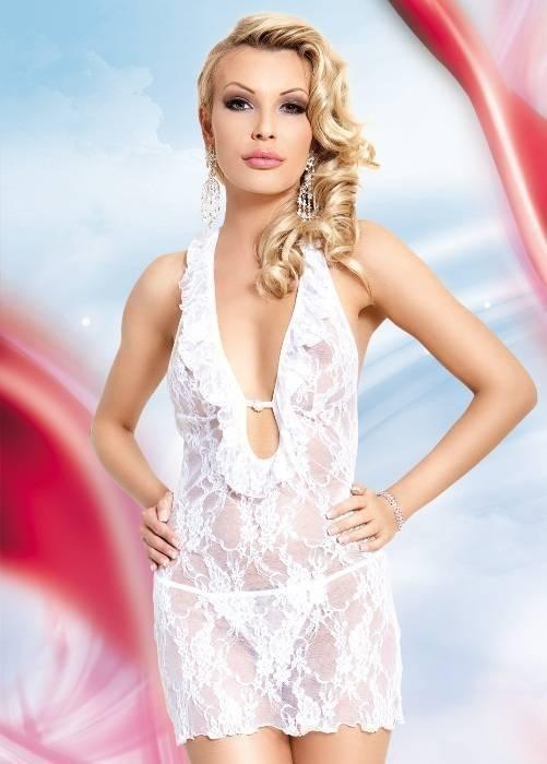 Carmen - Ночная сорочка и стринги белые-M/L