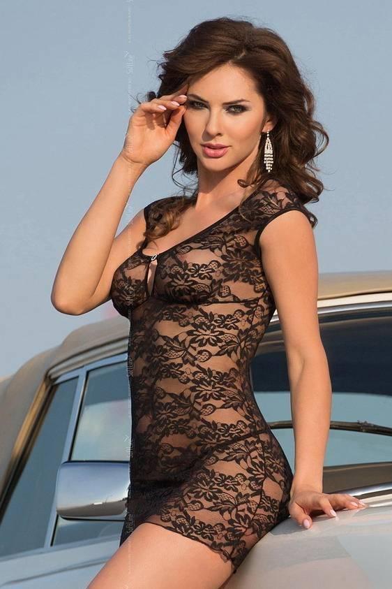 Linley - Ночная сорочка черная-M/L