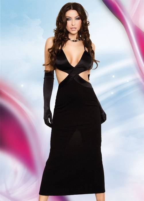 Daisy - Длинное платье черное-S