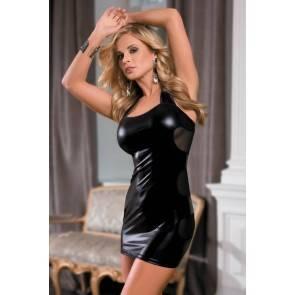 Платье Candy Girl Aspen, wetlook, черное, OS
