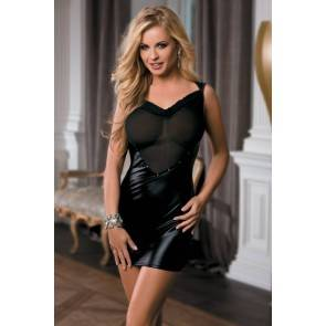 Платье Candy Girl Coco с открытой спиной, wetlook, черное, OS