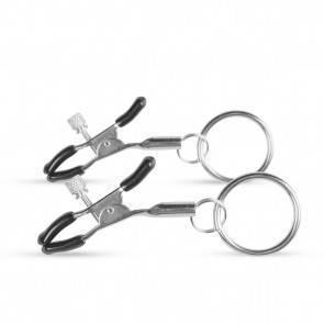Зажимы на Соски Easytoys Metal Nipple Clamps With Ring ET460SIL