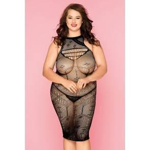 Платье-сетка и стринги Candy Girl Spice черные, 2XL