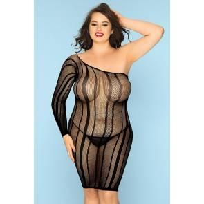 Платье-сетка и стринги Candy Girl Nikki черные, 2XL Candy Girl