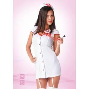 """Эротический костюм Le Frivole """"Доктор любовь"""" белый 02202 SM"""