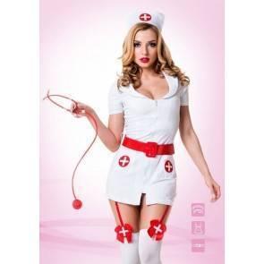 """Костюм """"Похотливая медсестра"""" белый 02210 SM Белый, Красный Le Frivole Costumes"""