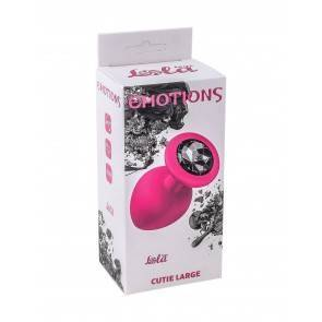 Анальная пробка Emotions Cutie Large Pink black Crystal 4013-01Lola