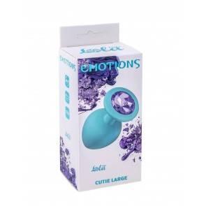 Анальная пробка Emotions Cutie Large Turquoise light purple crystal 4013-04Lola