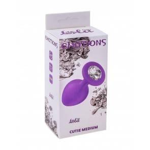 Анальная пробка Emotions Cutie Medium Purple clear crystal 4012-06Lola