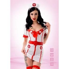 "Костюм ""Старшая медсестра"" белый 02196ML Белый, Красный Le Frivole Costumes"
