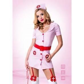Костюм Похотливая медсестра розовая 02211ML Le Frivole Costumes