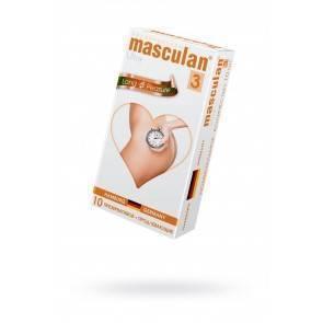 Презервативы Masculan Ultra 3, 10 шт. Кольца и пупырышки с анестетиком (Long Pleasure) ШТ