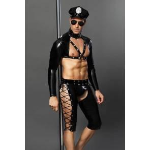 Костюм полицейского Candy Boy Josh, черный, OS