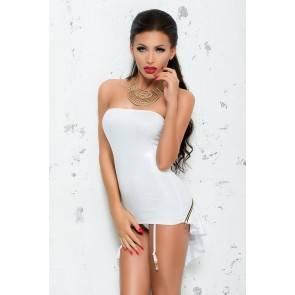 Корсет с пажами для чулок Me Seduce Bond Me Chantal, белый, L/XL