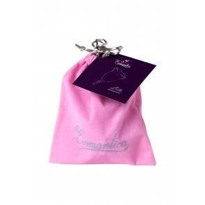 Гигиеническая менструальная чаша Eromantica, силикон, фиолетовый, L