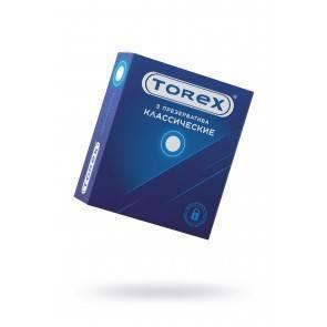 Презервативы классические TOREX латекс, №3, 18 см