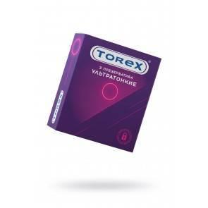 Презервативы ультратонкие TOREX латекс, №3, 18 см