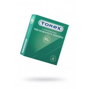 Презервативы увеличенного размера TOREX латекс, №3, 19 см