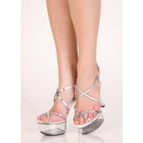 Туфли серебристые 40р.