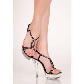 Туфли со стразами черные 36р.