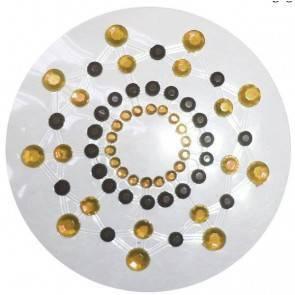 Украшение на сосок черно-золотое