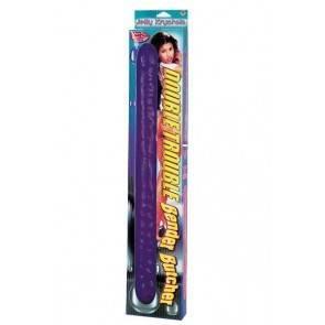 Фаллоимитатор дабл гель фиолетовый 45,7см