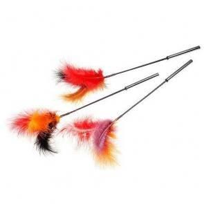 Щекоталка с натуральными перьями