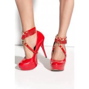 Украшение на щиколотки Me Seduce Queen of hearts Arabesque, красное, OS