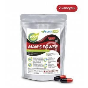 Средство возбуждающее с L-carnitin Man's Power 2 капсулы Supercaps