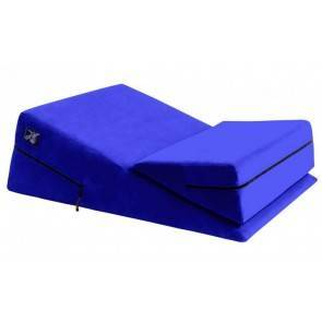Liberator Wedge/Ramp Combo Подушка для любви комбо большая+малая, синяя микрофибра Liberator. U.S.A.