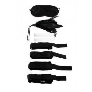 Набор для бондажа (наручники+маска+щекоталка+свечи) Beginner's Bondage Set