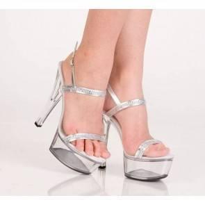 Туфли серебристые 38р.