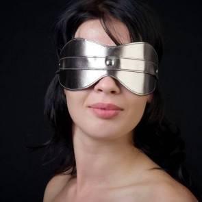 Маска на глаза из искусственной кожи 5015-7 Бронза СК-Визит