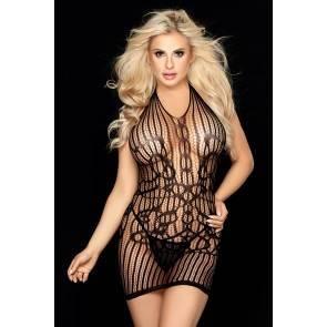 Платье и стринги Candy Girl Kaytee черные, OS Черный Candy Girl