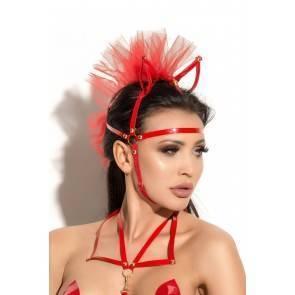 Маска с ушками Me Seduce Queen of hearts Allure, красная, OS