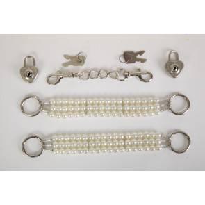 Наручники жемчужные белые 47501-2-MM