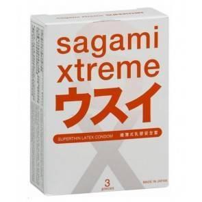 Презервативы SAGAMI Xtreme 0.04мм ультратонкие 3шт.