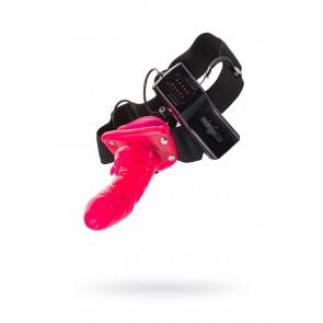 Страпон Seven Creations, ПВХ+ABS пластик и нейлон, розовый, 16,5 см.