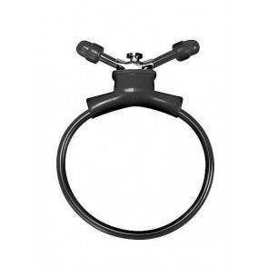 Утягивающее лассо Adjustable Cockring Black SH-SHT156BLK