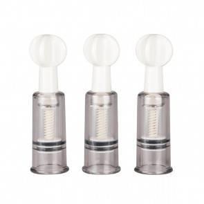 Набор Вакумных стимуляторов Easytoys Nipple & Clit Suckers 3pcs ET043CLR