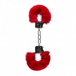 Наручники с Мехом Easytoys Furry Handcuffs Red ET258RED