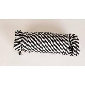 Веревка шелк .для бандажа бел-чер 5 метров