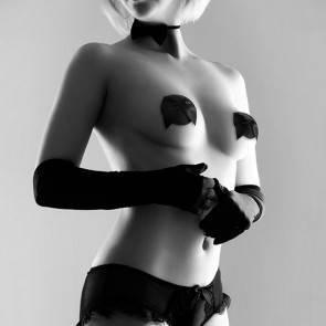 Bijoux Indiscrets Украшение на грудь бантик черное