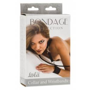 Ошейник с наручниками Bondage Collection Collar and Wristbands One Size 1058-01Lola