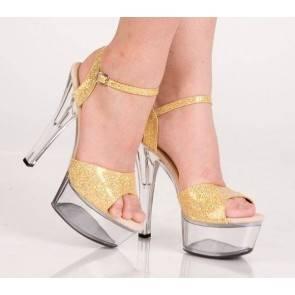 Туфли золотистые 37р.