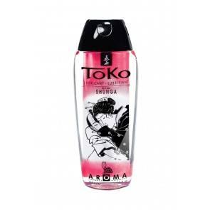 Лубрикант Shunga Toko Aroma на водной основе, со вкусом клубники и шампанского, 165 мл