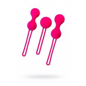 Набор вагинальных шариков Штучки-дрючки, силикон, розовый, 3 шт