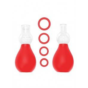 Набор для стимуляции груди красный SH-OU056RED